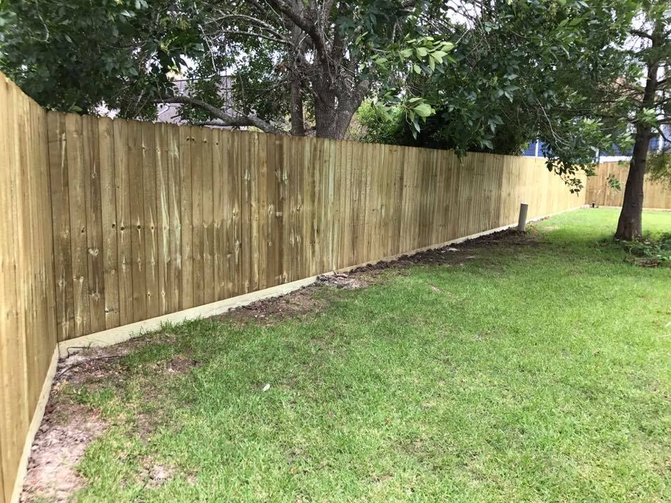 Back yard fencing to promote privacy