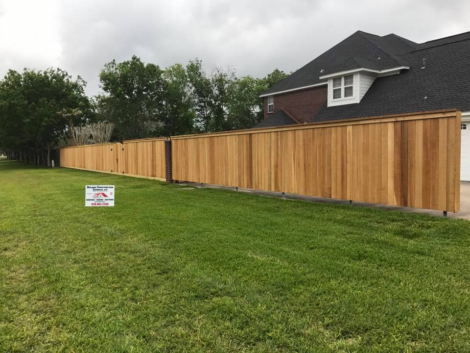 A new wood privacy fence.
